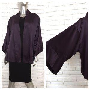 Natori Purple Kimono Top Blouse OSFA Open Front
